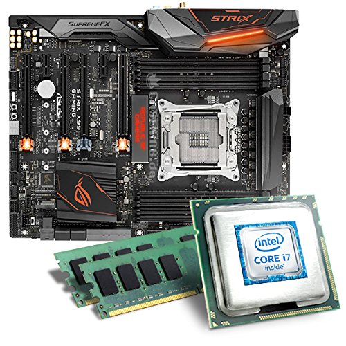 Intel Core i7-6950X / ASUS ROG Strix X99 Gaming Mainboard Bundle / 16384 MB | CSL PC Aufrüstkit | Intel Core i7-6950X 10x 3000 MHz, 16384 MB DDR4, WaKü, GigLAN, 7.1 Sound, USB 3.1 Gen 2 | Aufrüstset | PC Tuning Kit