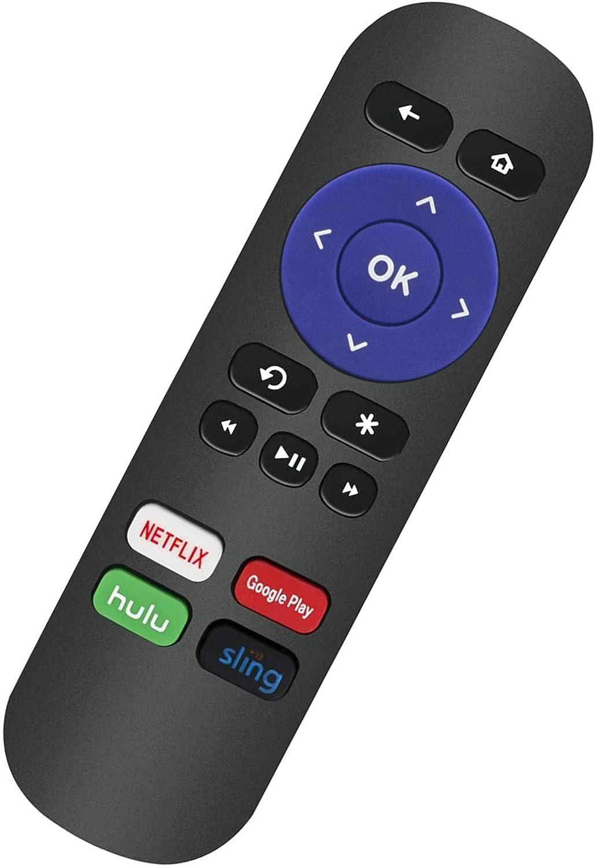 AIDITIYMI RK-NGHS Remote Control Replace for Roku Streaming Media Player 1 2 3 4(HD LT XS XD), Roku Express 3900R, Roku Premiere 4620XB 4210XB 3900R 2500R 2700R 2450XB