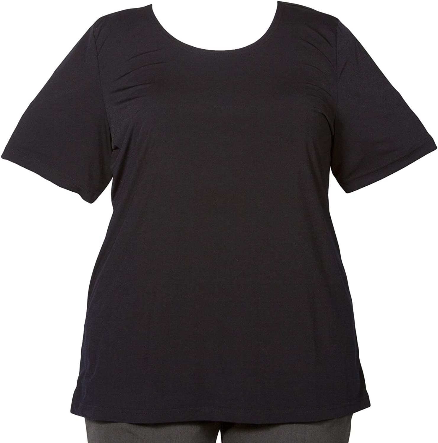 Black All items in the store Round Neck Pullover Woman's Plus Top safety Size