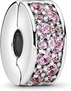 Pandora Clip Elegancia Rosa Brillante 791817PCZ (Pink)