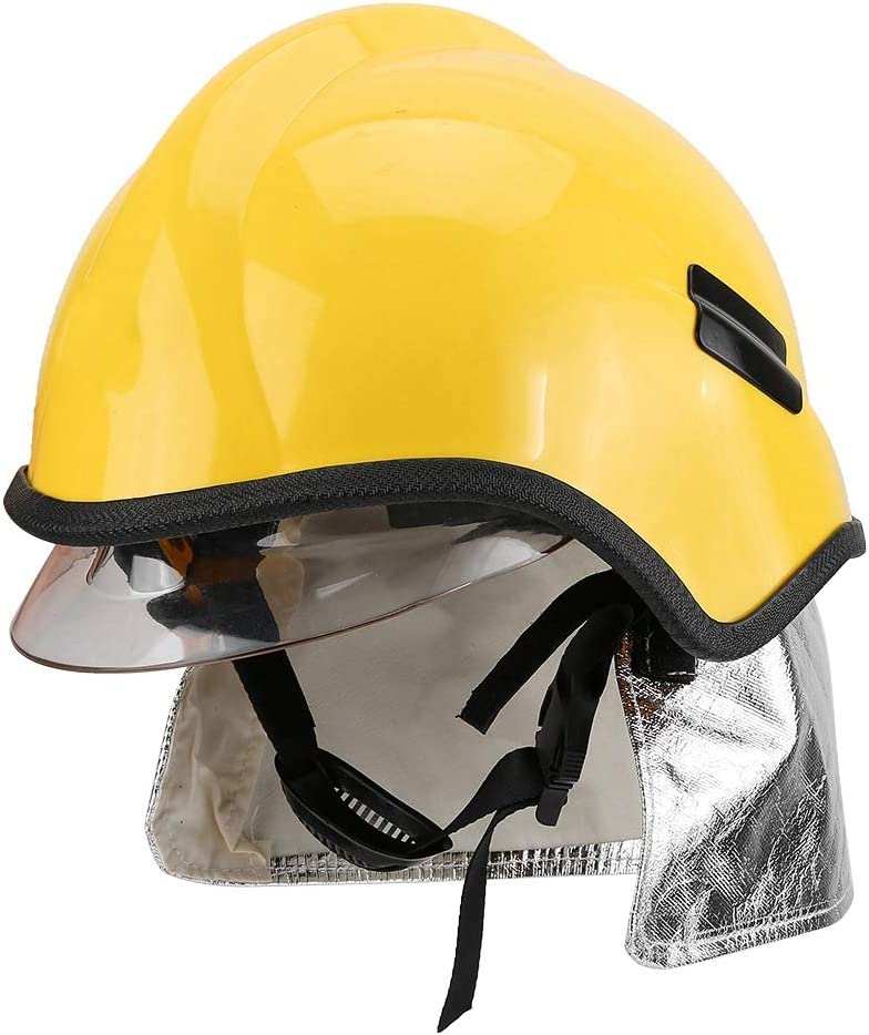 Casco De Bombero, Casco De Seguridad Gran Rendimiento De Aislamiento Reduce El Diseño De Perilla De Impacto Para Proteger