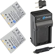 EN-EL5 EforTek Battery (2-Pack) and Charger Kit for Nikon CoolPix P530, P520, P510, P100, P500, P5100, P5000, P6000, P90, P80, 4200, 5200, 5900, 7900, P3, P4, S10 Cameras,100% Compatible with Original