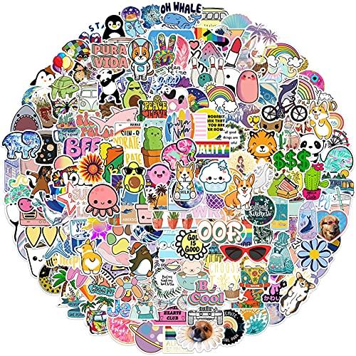 200 PCS Vinyl Stickers, Water Bottle Stickers for Kids Teens Girls, Cute VSCO Aesthetic Waterproof Stickers Pack for Skateboards Luggage Helmet Guitar Laptops