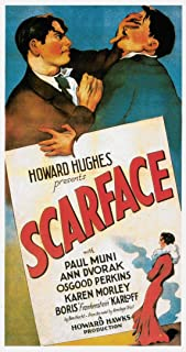 briprints Scarface 1932 Paul Muni Gangster Film Movie Poster Print Size 24x18 Decoration semi Gloss Paper