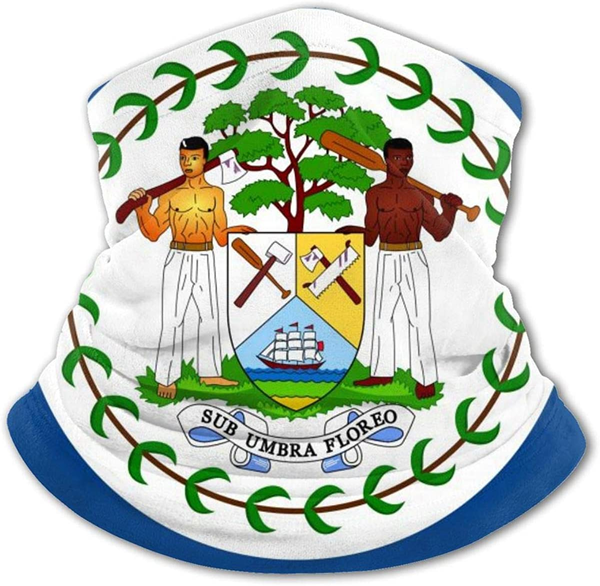 Flag Of Belize Headwear For Girls And Boys, Head Wrap, Neck Gaiter, Headband, Tenn Fishing Mask, Magic Scarf, Tube Mask, Face Bandana Mask For Camping Running Cycling