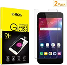 Screen Protector for LG Xpression Plus, [2-Pack] KHAOS Tempered Glass Screen Protectors for LG Xpression Plus - 9H HD-Clear Anti-Scratch