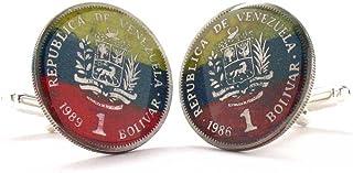 Venezuela Cufflinks Cuff Links Flag Coin Gemelos Mancuernas Mancuernillas Joya Bandera Caracas Angel LDS Missionary Gift