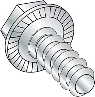 Hex Drive 5//16-12 Thread Size Zinc Plated Pack of 25 1//2 Length Type AB Steel Sheet Metal Screw Hex Head
