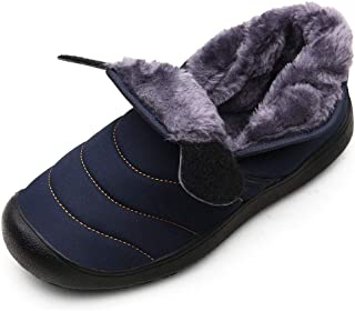 POLP Botas de Nieve Hombre Caliente Terciopelo Calzado Calzado Deportivo Al Aire Libre Unisex Botas Impermeables de algodó...