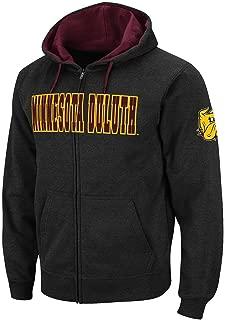 Colosseum Mens Minnesota Duluth Bulldogs Full Zip Hoodie