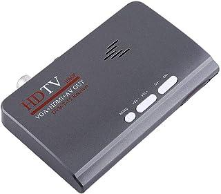 Receptor de Sintonizador de TV, Digital 1080P HD HDMI DVB-T2 Teletexto TV Box Tuner Receptor Convertidor Control Remoto Salida de Video Compuesto con Puerto VGA