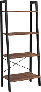 VASAGLE ALINRU Ladder Shelf, 4-Tier Bookshelf, Storage...