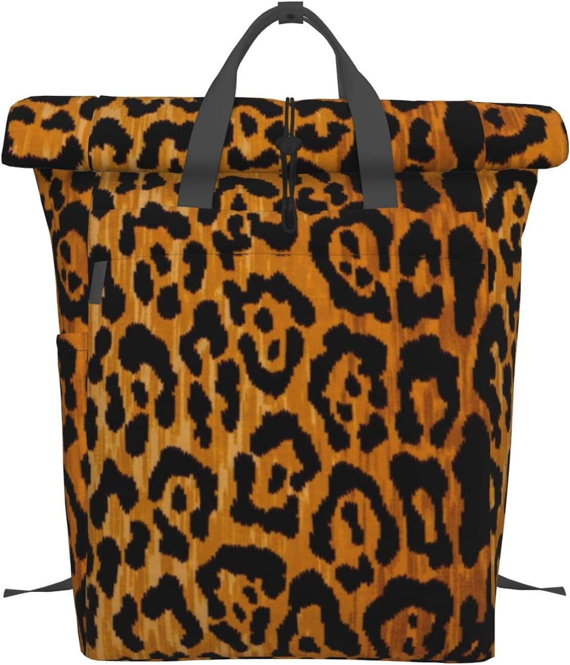 Leopard Print Portable OFFicial Backpack Folding Handbag V Mouth Laptop Year-end annual account