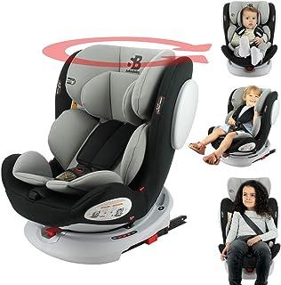 nania Silla de Auto isofix SEATY 360° Grupo 0+/1/2/3 (0-36kg), evolutiva y de Gran Confort - Safety Baby