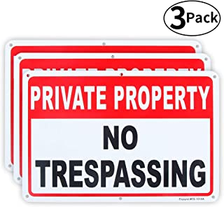 3 Pack Private Property No Trespassing Sign 10
