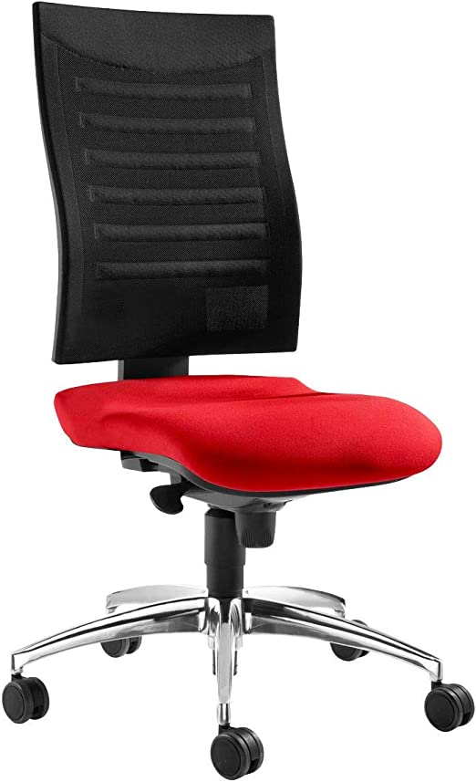 Schafer Shop Ssi Proline S2 Office Chair Without Armrests 3d Mesh Back Rest Synchronous Mechanism 5 Year Guarantee Made In Germany Red Black Amazon De Kuche Haushalt