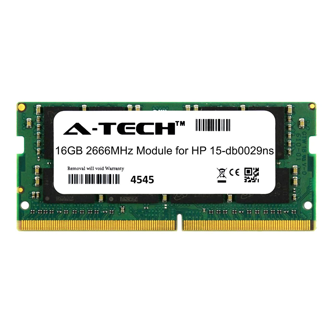A-Tech 16GB Module for HP 15-db0029ns Laptop & Notebook Compatible DDR4 2666Mhz Memory Ram (ATMS381917A25832X1)