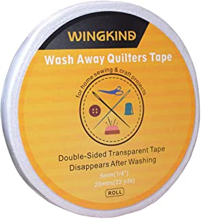 Double-Sided Wash Away Quilters Tape Sewing Tape, 1/4-Inch by 22-Yard (2 Rolls)