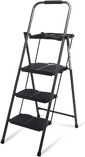 Giantex 3 Step Ladder Folding Ladder Stool with Tool Platform 330 LBS Capacity Space Saving Foldable Ladder W/tray