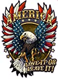 American Bald Eagle American Flag Love it or Leave it. Decal is 6' in size