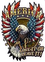 American Bald Eagle American Flag Love it or leave it。XX Largeデカールでは36インチサイズ