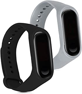kwmobile Silicone Watch Strap for Xiaomi Mi Band 3-2X Fitness Tracker Replacement Band - Sports Wristband Bracelet Set