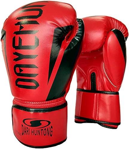 ChenYongPing Sac de Boxe Sparbague cuir cuir Mitts Gants de Boxe Muay Thai Training DX Peau Cuir Sac de Boxe Sparbague Mitaines Kick Boxing Combat Gants d'entraîneHommest Muay Thai