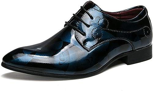 MALPYQ Chaussures habillées Oxford pour Hommes, Chaussures de Ville Classiques décontractées et Confortables en Cuir
