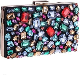 Sturdy Colorful Diamond Handbag, Evening Clutch, Wallet, Crossbody Handbag, (Color: Multi-Color 1) Large Capacity