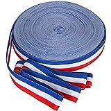 TRIXES 45 m x 25 mm Carrete Cinta de Nylon Decorativa Tricolor Francesa Rojo Blanco Azul para el Día de la Bastilla Artes Artesanías Banderas Patrióticas Celebraciones Nacionales