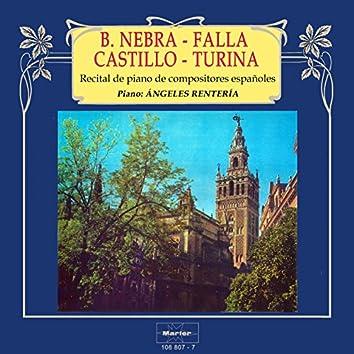 Recital de piano de compositores españoles: Blasco de Nebra - Falla - Castillo - Turina