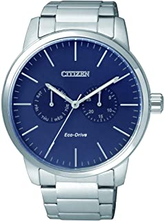 CITIZEN Mens Solar Powered Watch, Analog Display and Stainless Steel Strap - AO9040-52L