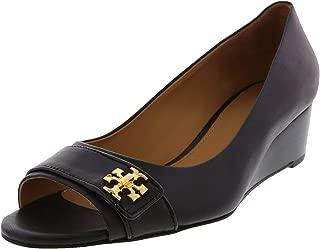 Tory Burch Women's Kira 45Mm Open Calf Leather/Patent Ankle-High Pump