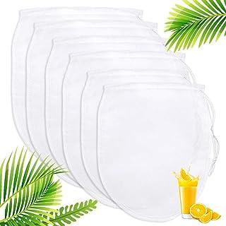 Nussmilchbeutel, Passiertuch Filterbeutel 6er Pack Käsetuch, Nut Milk Bags, Für die..