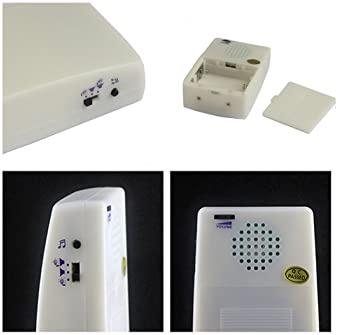 GutReise 7 Color Changeable Light Flash 16 songs 3 modes music Wireless Doorbell Door Chime Kit for house, Quality So...