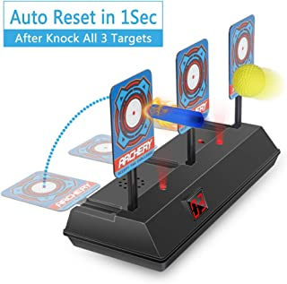 HAHAone Auto Reset Electric Shooting Target for Nerf Guns N-Strike Elite/Mega/Rival Series , Digital Targets with Light Sound Effect
