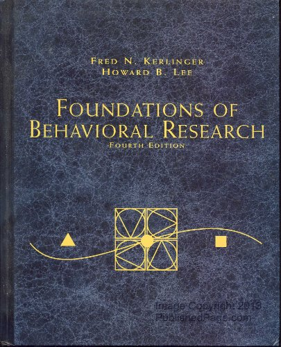 Foundations of Behavioral Research (PSY 200 (300) Quantitative Methods in Psychology)