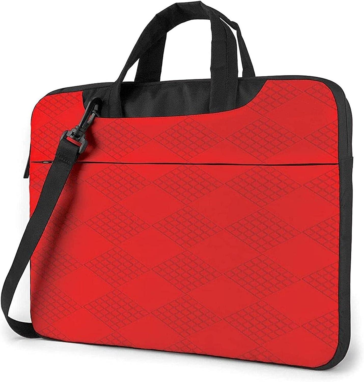 Epushow Red Diamond Lattice Large Max 49% OFF discharge sale Laptop Bag 13 Me Inch Shoulder Strap