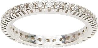 Gilu - Gioielli Anello Oro Bianco 18 Kt A Giro Completo Di Diamanti