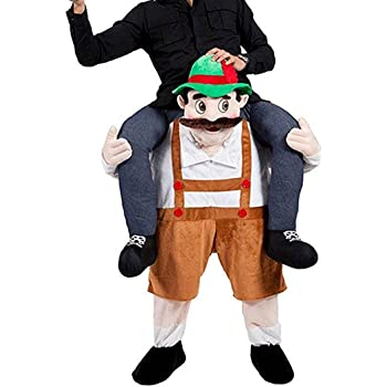 Mickey Mouse Mascot Costume Ride On Piggy Back Fancy Dress Men Carry Costume