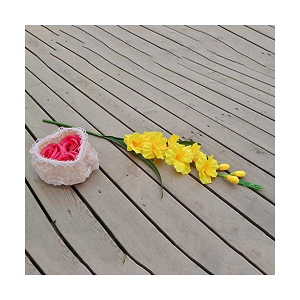 Fenteer 2 Paquetes De Flores De Gladiolos Artificiales para Boda DIY Planta De Arte Floral Decoración De Fiesta De…