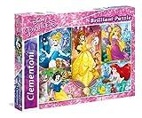 Clementoni - Puzzle 104 Piezas Efecto Diamante Princess (20140)