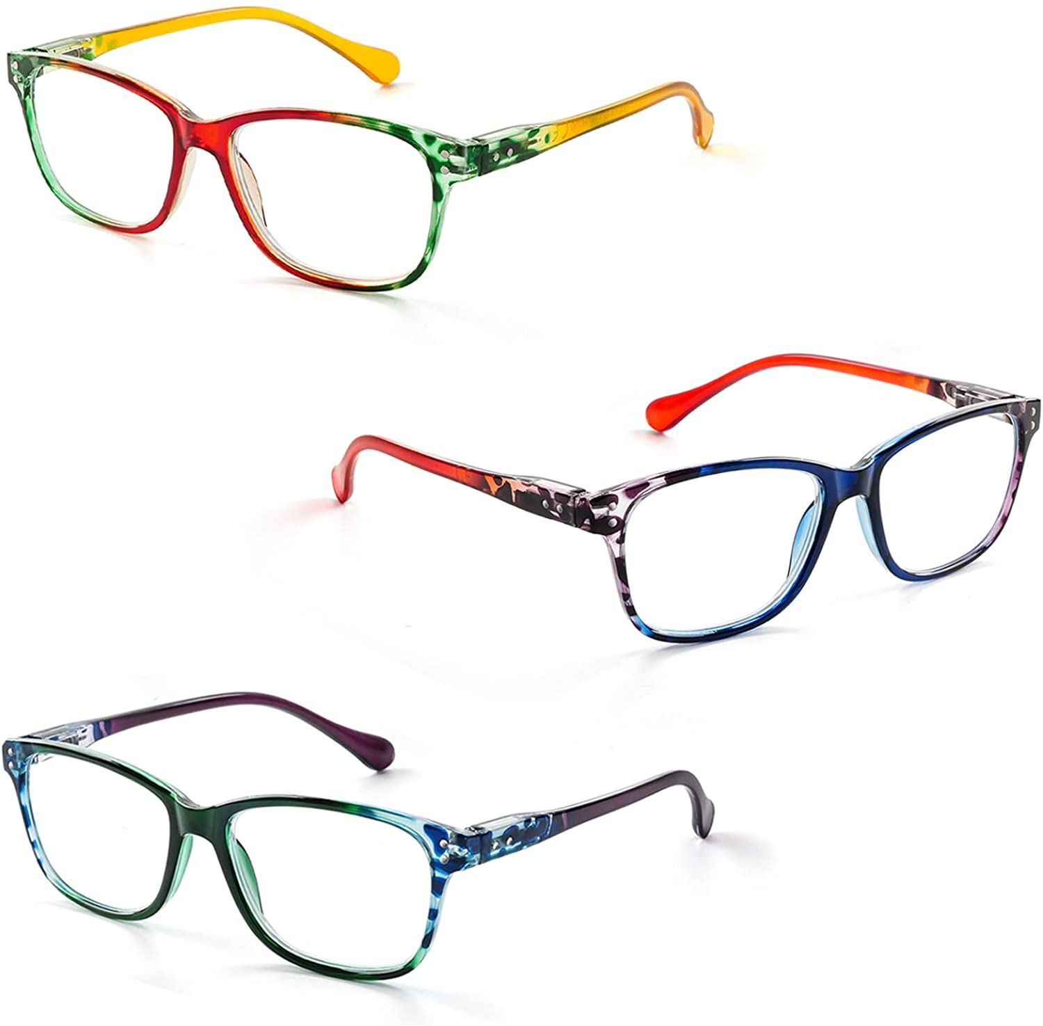 FONHCOO Reading Glasses for Women Blue Recommendation Lightweight Readers Men Fashionable