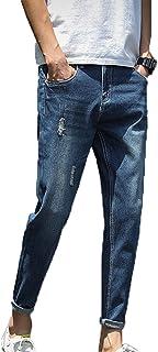 Generic11 Pantaloni in Denim da Uomo Pantaloni Corti Strappati Stile Casual Jeans Resistenti allo sbiadimento Pantaloni Sp...