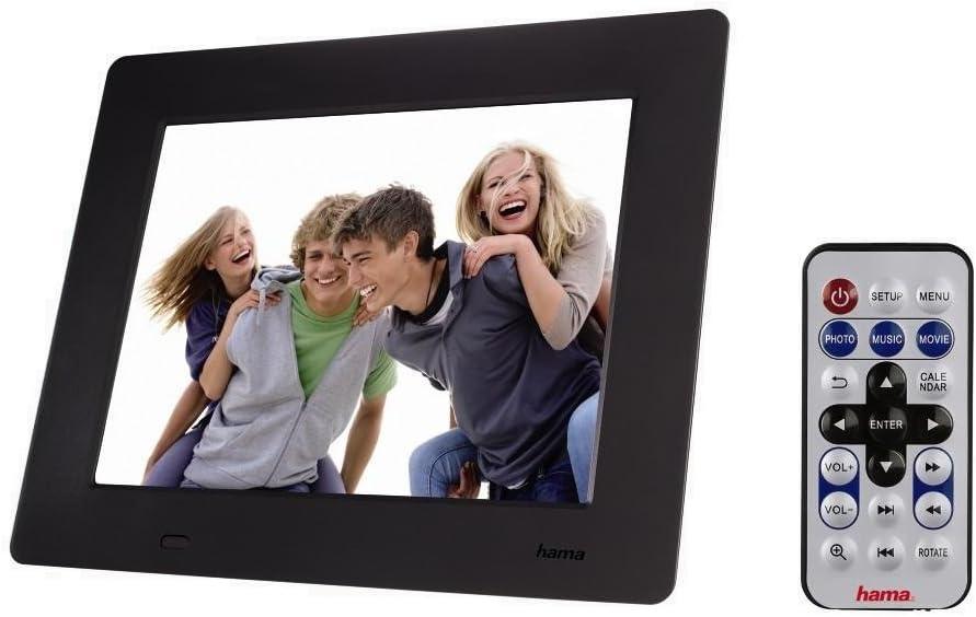 Hama 95228 Slimline Premium Digitaler Bilderrahmen 20 3 Cm 8 Zoll Sd Sdhc Mmc Kartenslot Mini