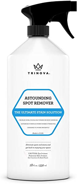 Carpet Spot Remover Spray Best Cleaner For Stains On Rugs Upholstery Fabric And More Red Wine Eliminator And Eraser For Most Surfaces 18oz Trinova