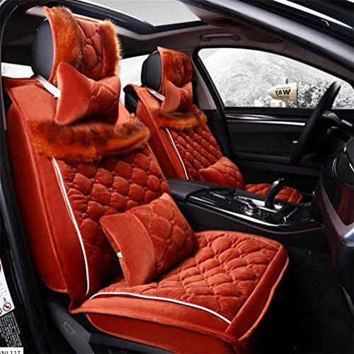 AMYMGLL 3D All-joint Coussin voiture universel Set Flocage édition Deluxe (11Réglez) Cinq coussins Général de voitures Four Seasons Universal 4 Couleurs options , #32