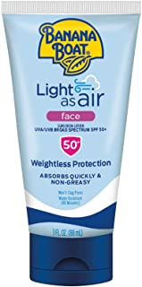 Banana Boat Light As Air Faces Reef Friendly Sunscreen Lotion Broad Spectrum SPF 50, 3 Fl Oz
