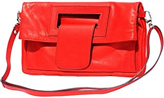 FLORENCE LEATHER MARKET Borsa con tracolla in pelle donna 33x3x30 cm - Giuliana - Made in Italy