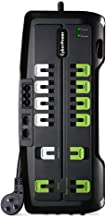 CyberPower CSHT1208TNC2G Home Theater Surge Protector + TEL Protection, 4350J/125V, 12 Outlets, 8ft Power Cord